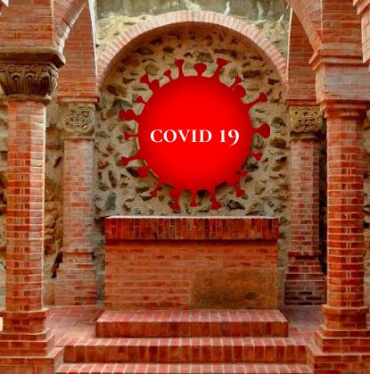 COVID szabályok az 1000 éves templomban