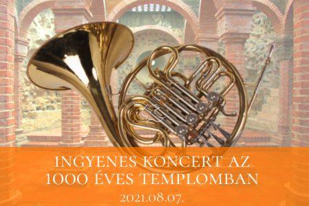 Ingyenes koncert az 1000 Éves Templomban