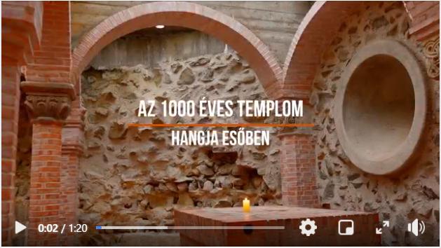 Az 1000 Éves Templom hangja az esőben