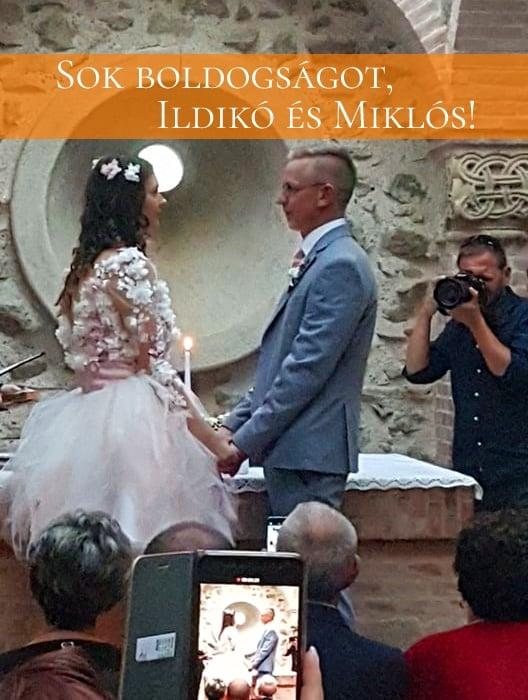 Sok boldogságot, Ildikó és Miklós!